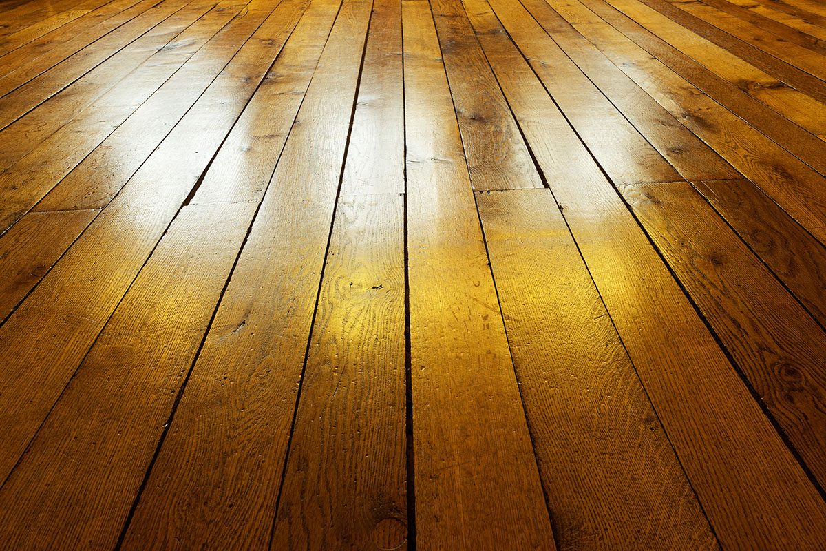 Old painted wooden floor in backlight